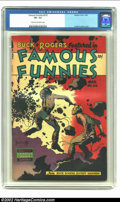 Golden Age (1938-1955):Science Fiction, Famous Funnies #216 (Eastern Color, 1955) CGC VF- 7.5 Cream tooff-white pages. This is the final of an eight-issue consecut...