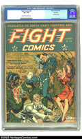 Golden Age (1938-1955):War, Fight Comics #20 Rockford pedigree (Fiction House, 1942) CGC VF+8.5 Cream to off-white pages. A great torture 'n bondage co...