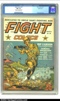 Golden Age (1938-1955):War, Fight Comics #25 Double Cover / Rockford pedigree (Fiction House,1943) CGC NM- 9.2 Cream to off-white pages. Dan Zolnerowic...