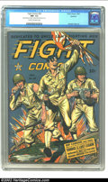 Golden Age (1938-1955):War, Fight Comics #29 Rockford pedigree CGC NM- 9.2 Cream to off-whitepages. (Fiction House, 1943). This great war comic is clea...