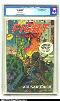 Fight Comics #85 Cosmic Aeroplane pedigree (Fiction House, 1953) CGC VF/NM 9.0 Off-white to white pages. Some of these l...