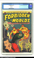 Golden Age (1938-1955):Science Fiction, Forbidden Worlds #2 (ACG, 1951) CGC VF 8.0 Off-white pages. Coverartist Ogden Whitney practically made a career doing cover...