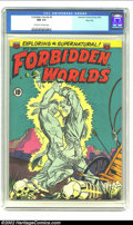 Golden Age (1938-1955):Horror, Forbidden Worlds #9 River City pedigree (ACG, 1952) CGC NM 9.4Off-white to white pages. Like most horror/supernatural title...