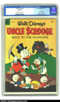 Golden Age (1938-1955):Cartoon Character, Four Color #456 Walt Disney's Uncle Scrooge (Dell, 1953) CGC VF 8.0 Cream to off-white pages. Considered to be Uncle Scroo...
