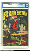 Golden Age (1938-1955):Horror, Frankenstein #20 River City pedigree (Prize, 1952) CGC VF+ 8.5Cream to off-white pages. Dick Briefer brings Mary Shelley's ...
