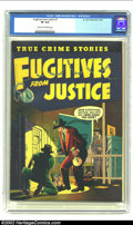 Golden Age (1938-1955):Crime, Fugitives From Justice #1 (St. John, 1952) CGC VF 8.0 Cream to off-white pages. With the decline of the superhero genre as a...