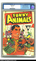 Golden Age (1938-1955):Humor, Funny Animals #1 Mile High pedigree (Fawcett, 1942) CGC NM- 9.2 Off-white pages. Captain Marvel guest appears on the first i...