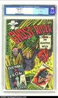 Golden Age (1938-1955):Horror, Ghost Rider #11 (Magazine Enterprises, 1953) CGC NM- 9.2 Off-whitepages. Dick Ayers depicts a witch summoning hell's minion...