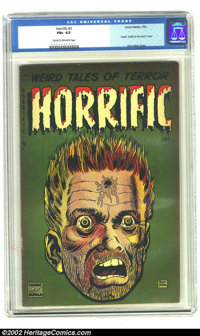 Horrific #3 (Harwell, 1953) CGC FN+ 6.5 Cream to off-white pages. Some of the most famous covers of the pre-code horror...