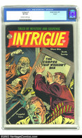 Golden Age (1938-1955):Horror, Intrigue #1 Circle 8 pedigree (Quality, 1955) CGC VF 8.0 Off-whiteto white pages. This one-shot featured reprints from Th...