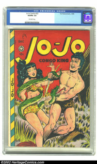 Jo-Jo Comics #22 (Fox Features Syndicate, 1948) CGC VG/FN 5.0 Off-white pages. Jo-Jo's gal is held in bondage by a boa o...