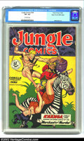 Golden Age (1938-1955):Adventure, Jungle Comics #108 Mile High pedigree (Fiction House, 1948) CGC VF+ 8.5 Off-white pages. Kaanga, the Jungle Lord, comes to t...