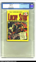 Golden Age (1938-1955):Western, Lucky Star #1 (Nationwide Publications, 1950) CGC NM+ 9.6 Off-whiteto white pages. This pocket sized title was one of only ...