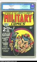 Golden Age (1938-1955):War, Military Comics #5 Mile High pedigree (Quality, 1941) CGC VF/NM 9.0White pages. Hands down, this is one of the greatest cov...