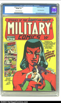 Military Comics #14 (Quality, 1942) CGC VF/NM 9.0 Cream to off-white pages. A seductive brunette temptress, Tondeleyo, h...