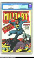 Golden Age (1938-1955):War, Military Comics #20 Mile High pedigree (Quality, 1943) CGC NM- 9.2 White pages. Reed Crandall, one of several excellent arti...
