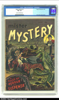 Golden Age (1938-1955):Horror, Mister Mystery #1 (Aragon Magazines, Inc., 1951) CGC FN+ 6.5 Creamto off-white pages. The dead arise in this clean, afforda...