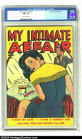 Golden Age (1938-1955):Romance, My Intimate Affair #1 (Fox, 1950) CGC FN+ 6.5 Slightly brittlepages. Can this business wait? The answer is most certainly a...