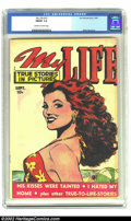 Golden Age (1938-1955):Romance, My Life #10 (Fox, 1949) CGC FN/VF 7.0 Off-white to white pages.This could be the most beautiful comic book cover woman we'v...