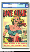 Golden Age (1938-1955):Romance, My Love Affair #2 (Fox, 1949) CGC FN/VF 7.0 Light tan to off-whitepages. Wonderful structure and colors on this white backg...