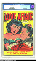 Golden Age (1938-1955):Romance, My Love Affair #3 (Fox, 1949) CGC VF- 7.5 Cream to off-white pages.Wouldn't things be much easier if men and women would ju...