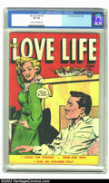Golden Age (1938-1955):Romance, My Love Life #12 (Fox, 1950) CGC VF 8.0 Cream to off-white pages. Like so many of the numerous Fox romance books we're offer...