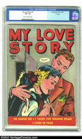 "Golden Age (1938-1955):Romance, My Love Story #2 ""D"" Copy pedigree (Fox, 1949) CGC VF- 7.5 Cream tooff-white pages. Fox romance comic books from this perio..."