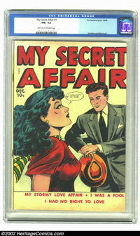 My Secret Affair #1 (Fox, 1949) CGC FN+ 6.5 Light tan to off-white pages. As if these issues weren't hard enough to pres...