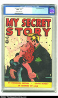 Golden Age (1938-1955):Romance, My Secret Story #29 (Fox Features Syndicate, 1949) CGC FN/VF 7.0Off-white to white pages. A buxom red-head swoons into her ...