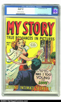 "Golden Age (1938-1955):Romance, My Story #5 (Fox, 1949) FN/VF 7.0 Off-white to white pages. Thisbook promises on the front cover to reveal, ""Exciting Intim..."