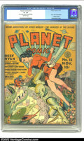 Golden Age (1938-1955):Science Fiction, Planet Comics #15 (Fiction House, 1941) CGC GD+ 2.5 Off-whitepages. Monsters, demons, spacemen, strange worlds, interplanet...