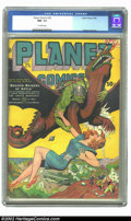 Golden Age (1938-1955):Science Fiction, Planet Comics #29 (Fiction House, 1944) CGC NM- 9.2 Off-white pages. Out of the skies swoop the Dragon-Raiders of Aztla, sco...