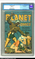 Golden Age (1938-1955):Science Fiction, Planet Comics #30 Crowley pedigree (Fiction House, 1944) CGC NM 9.4Off-white to white pages. As great as the early Zolnerow...