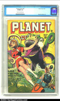 Golden Age (1938-1955):Science Fiction, Planet Comics #42 (Fiction House, 1946) CGC VF/NM 9.0 Cream tooff-white pages. Fiction House is well-known for their depict...