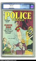 """Golden Age (1938-1955):Superhero, Police Comics #83 Mile High pedigree (Quality, 1948) CGC NM+ 9.6 Off-white to white pages. Seeing """"9.6"""" describing the grade..."""