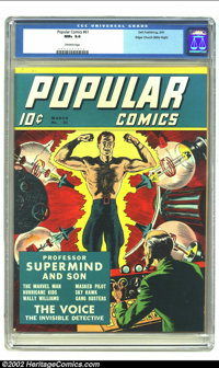 Popular Comics #61 Mile High pedigree (Dell, 1941) CGC NM+ 9.6 Off-white pages. Dell's first comic book had first hit th...