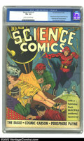 Golden Age (1938-1955):Science Fiction, Science Comics #1 (Fox, 1940) CGC FN+ 6.5 Cream to off-white pages.Comic great Lou Fine renders a truly stupendous bondage ...