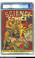 Golden Age (1938-1955):Science Fiction, Science Comics #4 (Fox, 1940) CGC GD+ 2.5 Cream to off-white pages.When the short list is made of the most incredible comic...