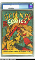 Golden Age (1938-1955):Science Fiction, Science Comics #5 (Fox, 1940) CGC VG 4.0 Cream to off-white pages.This has to truly be one of the greatest pre-war covers o...