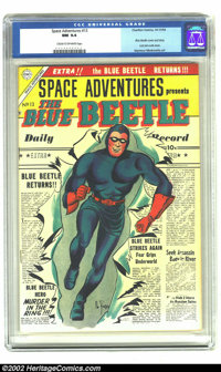 Space Adventures #13 (Charlton, 1954) CGC NM 9.4 Cream to off-white pages. The Blue Beetle last appeared in his own comi...