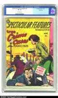 Golden Age (1938-1955):Crime, Spectacular Features Magazine #3 Windy City Pedigree (Fox, 1950) CGC VF- 7.5 Off-white pages. This title is one of the more ...