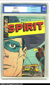 The Spirit #19 (Quality, 1950) CGC VF/NM 9.0 Cream to off-white pages. Will Eisner's genius is graphically demonstrated...