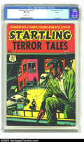 Golden Age (1938-1955):Horror, Startling Terror Tales #11 (2nd Series) Circle 8 pedigree (StarPublications, 1954) CGC VF+ 8.5 Off-white pages. L. B. Cole ...