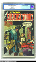 Golden Age (1938-1955):Horror, Strange Suspense Stories #17 (Charlton, 1954) CGC VF/NM 9.0Off-white pages. Some of the wildest stuff to come out was done ...