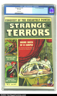 Strange Terrors #2 (St. John, 1952) CGC VF 8.0 Off-white pages. Here's pre-code horror in high-grade, and not from the E...