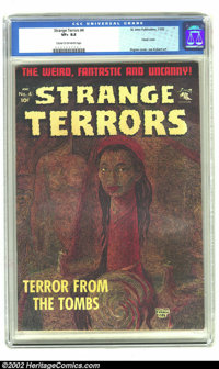 Strange Terrors #4 (St. John, 1952) CGC VF+ 8.5 Cream to off-white pages. A real eye-catching, painted cover from Willia...