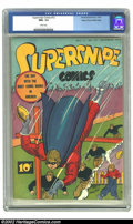 Golden Age (1938-1955):Superhero, Supersnipe Comics #12 Mile High pedigree (Street and Smith, 1943) CGC NM+ 9.6 White pages. A classic Supersnipe cover! The b...