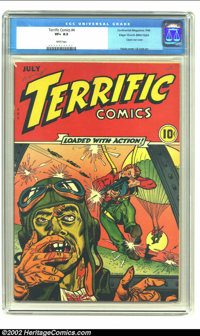 Terrific Comics #4 Mile High pedigree (Continental Magazines, 1944) CGC VF+ 8.5 White pages. If you are looking for a re...