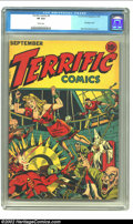 Golden Age (1938-1955):Superhero, Terrific Comics #5 Overstreet Copy (Continental Magazines, 1944) CGC VF 8.0 White pages. Alex Schomburg renders an incredibl...