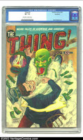 Golden Age (1938-1955):Horror, The Thing! #3 Northford pedigree (Charlton, 1952) CGC VF- 7.5Off-white to white pages. This fantastic cover by Albert Tyler...